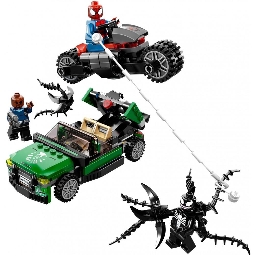 """Конструктор """"Приключения Человека-паука"""", Decool Super Heroes 7104 (аналог Lego 76004 Marvel), 237 деталей"""
