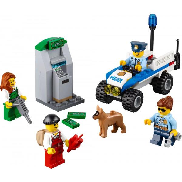 Конструктор Bela Cities 10653 Набор для начинающих Полиция , аналог: Lego City 60136 , количество деталей: 104