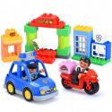 """Конструктор Gorock 1036 """"Полицейский патруль"""", аналог Lego Duplo 10902\10809, количество деталей : 41"""